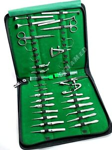 German 32 Pcs Ophthalmic Cataract Eye Micro Surgery Surgical Instruments Set Kit