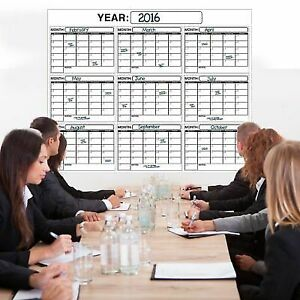 Laminated Wall Calendar Academic Planner Large Wet Or Dry Erase Plan 48x60