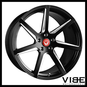 20 Vertini Wing 7 Gloss Black Concave Wheels Rims Fits Ford Mustang
