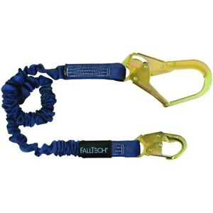 Falltech Fall Protection 4 To 6 Shock Absorbing Lanyard W Rebar Hook