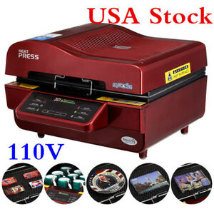 Us Stock 110v 3d Sublimation Transfer Heat Press Machine For Phone Cases Mugs