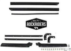 1987 1995 Jeep Wrangler Replacement Soft Top Body Windshield Channel Hardware