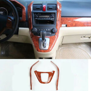 Fit For Honda Crv Cr v 2007 2011 Shift Gear Panel Trim Frame Garnish Cover 3pcs