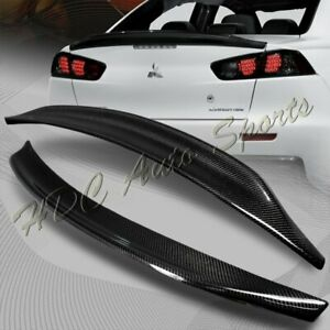 For 2008 2017 Mitsubishi Lancer Evo 10 Carbon Fiber Rear Trunk Duck Spoiler Wing