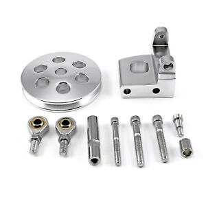Chevy Sbc 350 Type2 Billet Polished Aluminum Power Steering Bracket Kit W pulley