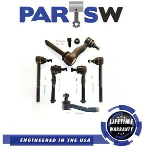6 Pc Steering Kit For Dodge Ram 1500 2500 Rwd Tie Rod Ends Idler Pitman Arms