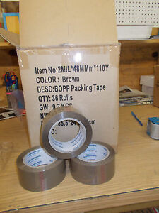 72 Rolls Packaging Brown Tape 2 X 330 2ml For Business