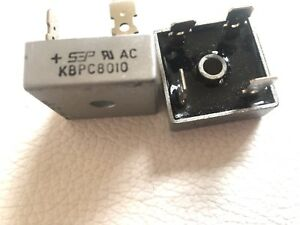 Kbpc8010 80a Amp 1000v Diode Bridge Rectifier Lot Of 10