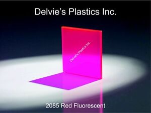 1 8 2085 Fluorescent Red Cell Cast Acrylic Sheet 24 X 24