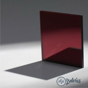 5 Sheets 1 8 Ruby Red Mirror Acrylic Plexiglass 12 X 12