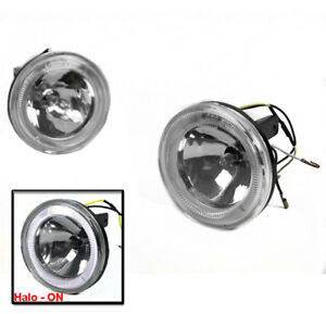 4 Universal Crystal Halo Bumper Driving Fog Lights W harness switch Brand New