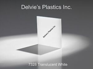 5 Sheets 3 16 7328 Translucent Bright White Cell Cast Acrylic Sheet 12 X 12