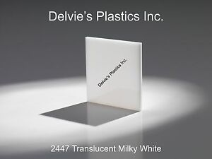 1 4 2447 Translucent Milky White Cell Cast Acrylic Sheet 24 X 24