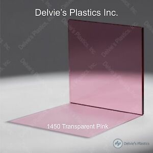 5 Sheets 1 8 1450 Transparent Pink Cell Cast Acrylic Plexiglass 12 X 24