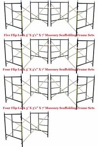 Seven Set New Flip Lock 5 X 5 1 X 7 Masonry Scaffold Frame Set Cbm Scaffold