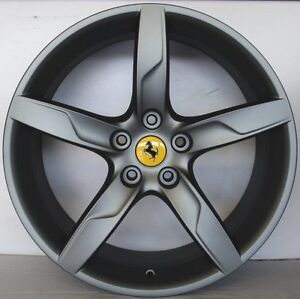 Ferrari California Turbo Original Wheels 19 Rims Matt Anthracite 301960