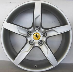 Ferrari California Turbo Original Wheels 19 Rims Matt Silver 301960 291342