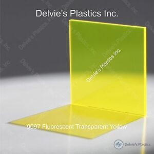 5 Sheets 1 8 9097 Fluorescent Yellow Cell Cast Acrylic Sheet 12 X 12