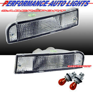 Pair Eagle Eyes Front Park Signal Bumper Lights For 1992 1995 Toyota 4runner