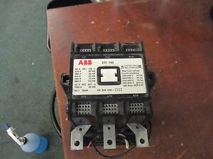 Abb Contactor Eh 110c 1 120v Coil 150a 600v Used