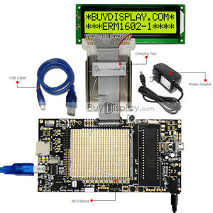 8051 Microcontroller Development Board Usb Programmer For 5v 16x2 Character Lcd