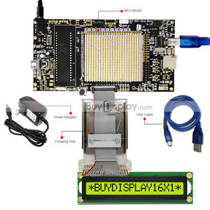 8051 Microcontroller Development Board Usb Programmer For 5v 16x1 Character Lcd