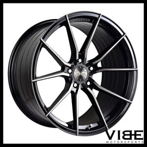 20 Vertini Rf1 2 Forged Black Concave Wheels Rims Fits Jaguar Xkr