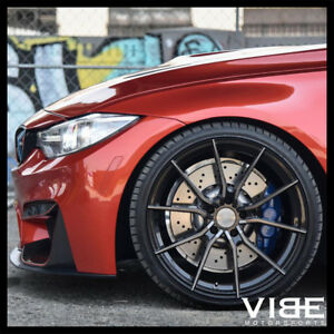 20 Vertini Rf1 2 Forged Black Concave Wheels Rims Fits Bmw F80 M3