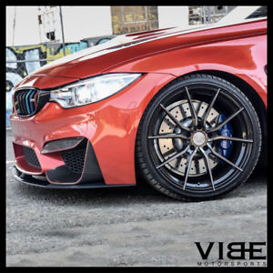20 Vertini Rf1 2 Forged Black Concave Wheels Rims Fits Bmw F82 M4