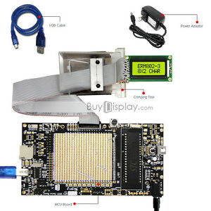 8051 Microcontroller Development Board Usb Programmer For 3 3v 8x2 Character Lcd