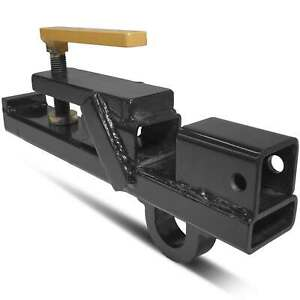 Titan Attachments Clamp On Tractor Bucket Hitch With Lift Ring 2 Receiver