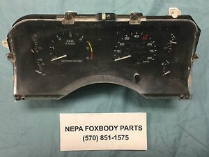 Original 90 93 Mustang Fox Body Instrument Cluster With Gauges Lx Gt Ssp Oem