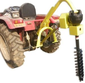 Titan 30hp Hd Steel Fence Posthole Digger W 6 Auger 3 Point Tractor Attachment
