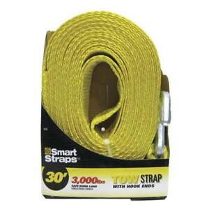 Heavy Duty 2 X30 Recovery Strap Tow Rope 9 000 Lbs Hook Ends Truck Towing
