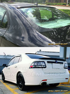 02 13 Saab 9 3 93 Ii 2nd Sedan 4dr Sk Design Rear Roof Spoiler