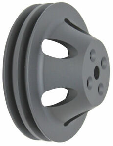 Bbc Chevy 396 454 Black Aluminum Swp Double Groove Water Pump Pulley