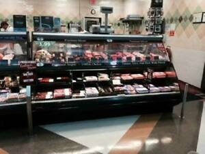 12 Barker Fresh Meat Service Case amazing Deal Retails For 24 000