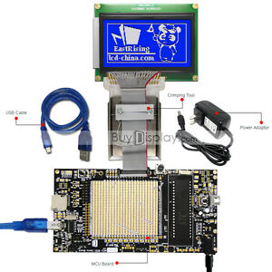 8051 Microcontroller Development Board Kit Usb Programmer For 128x64 Graphic Lcd