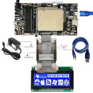 8051 Microcontroller Development Board Kit Usb Programmer For 192x64 Graphic Lcd