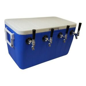Ny Brew Supply Jockey Box Cooler 4 Faucet 5 16 X 50 Stainless Coils 48qt