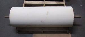 No Name 14 3 4 X 42 1 11 16 Shaft Dia White Rubber Conveyor Belt Head Roller