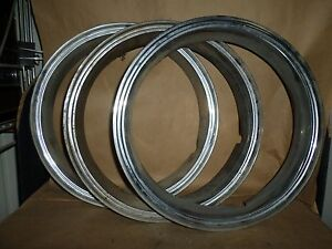 Wheel Beauty Trim Ring Set Of 3 Vintage Rally 575 Gm8m02 7