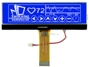 3 8 blue 256x64 Graphic Lcd Module Display w uc1698 Controller tutorial