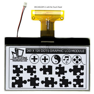3 white 240x120 Cog Graphic Lcd Module Display parallel spi Serial W tutorial