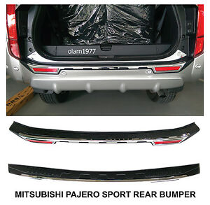 Tailgate Rear Bumper Guards Cover Trim Mitsubishi Montero Pajero Sport 2015 2018