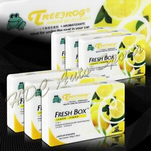 6 X Tree Frog Lemon Limon Natural Extreme Car Air Freshener Fresh Box Universal