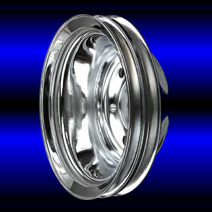 Crankshaft Pulley 2 Groove For Small Block Chevy Lwp 327 350 400 Chrome Sbc