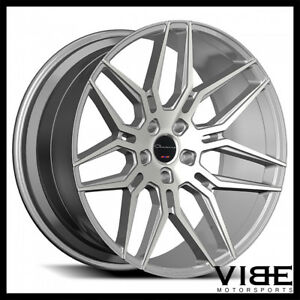 24 Giovanna Bogota Silver Concave Wheels Rims Fits Chevrolet Tahoe