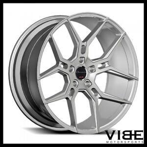 24 Giovanna Haleb Silver Concave Wheels Rims Fits Chevrolet Tahoe