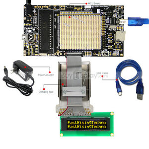 8051 Microcontroller Development Board Usb Programmer For 16x2 Oled Character
